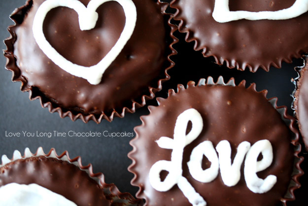 Love You Long Time Chocolate Cupcakes