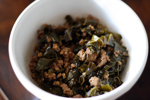 Stewed Collard Greens with Chorizo
