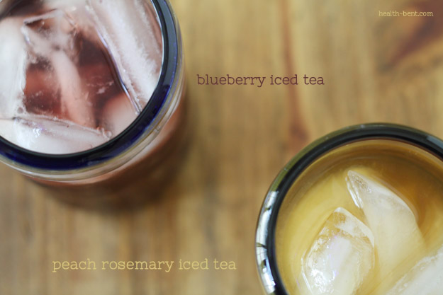 Peach Rosemary Iced Tea & Blueberry Iced Tea