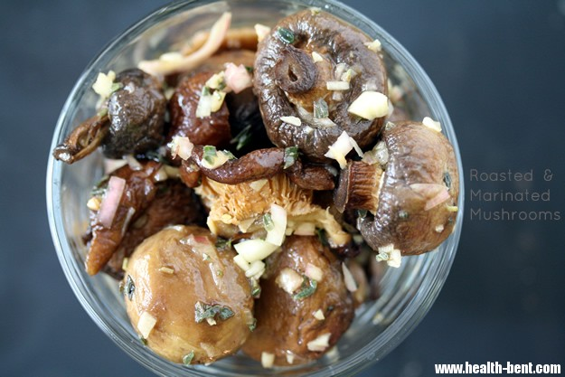 Roasted & Marinated Mushrooms